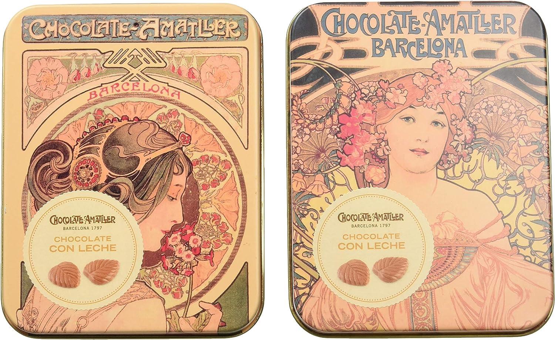 Chocolate Amatller - Hojas Finas en caja metal (Chocolate con ...