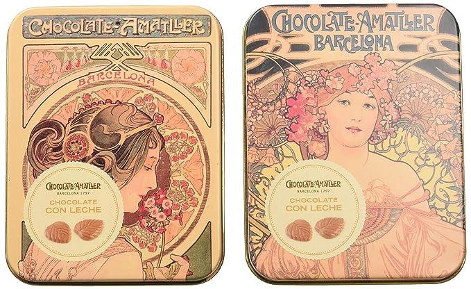 Chocolate Amatller - Hojas Finas en caja metal (Chocolate ...