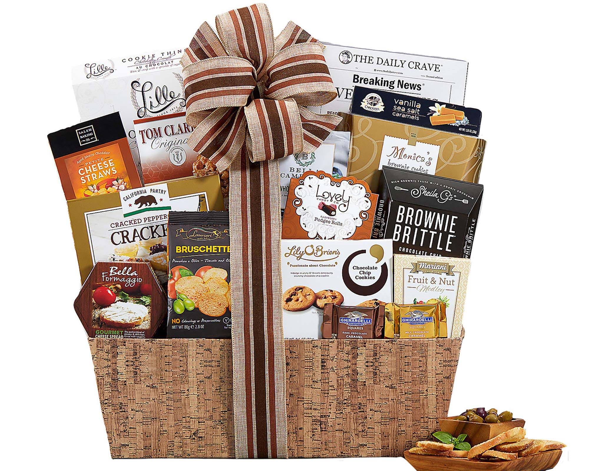 Wine Country Gift Baskets Sympathy Basket Heartfelt Thoughts Our Sincere Condolences Thinking Of You In Times Of Sorrow Bereavement Grief Elegant Gourmet Food Gift Basket