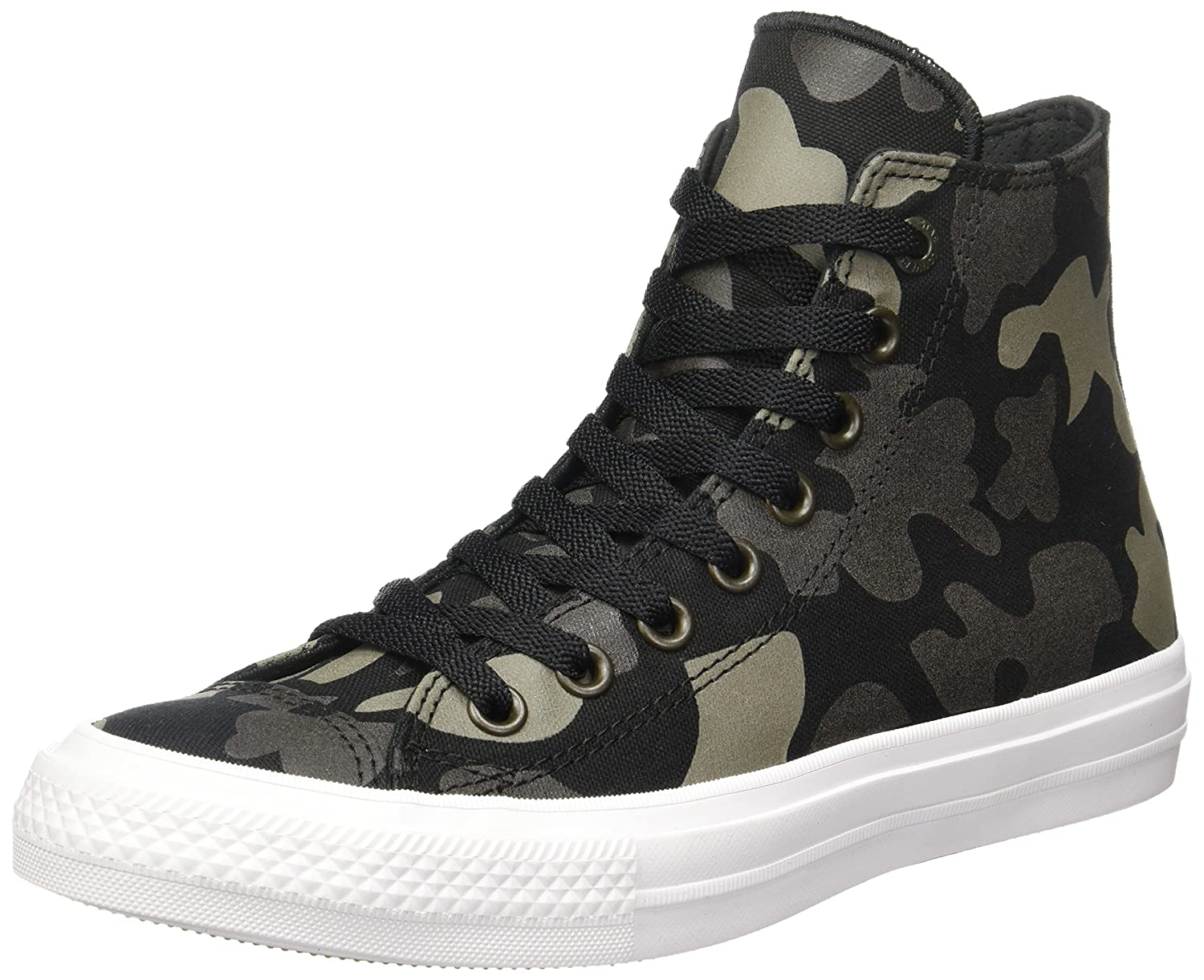 cf1c0062ee7eda Converse Unisex Adults  Chuck Taylor All Star Ii Reflective Camo Hi-Top  Sneakers