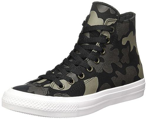 f461fd33b3b607 Converse Unisex Adults  Chuck Taylor All Star II Reflective Camo Hi-Top  Sneakers