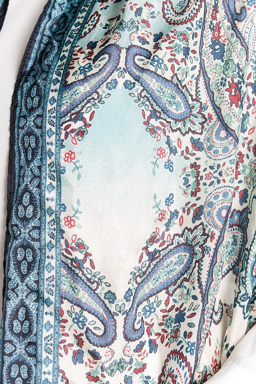 Fine Silk Scarf for Women-Luxury Fashion Print Extra Long Lightweight Wrap Shawl Headscarf by d'IRIS (Image #7)