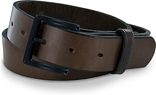 HEAVY DUTY SOLID LEATHER BELT GENUINE LEATHER COWHIDE BLACK BROWN MADE IN USA