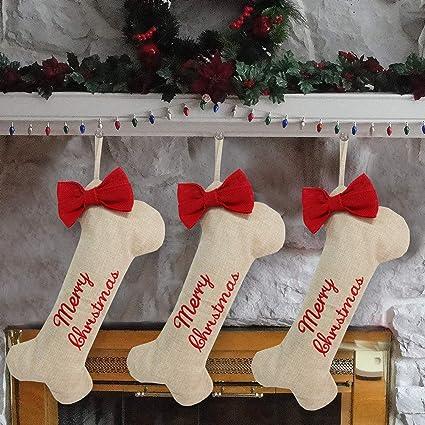 "5477681ed966d Amazon.com  Partyprops 18"" Christmas Dog Stockings"