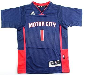 Adidas Reggie Jackson Detroit Pistons NBA # 1 Juventud Swingman Orgullo de Manga Corta Jersey,