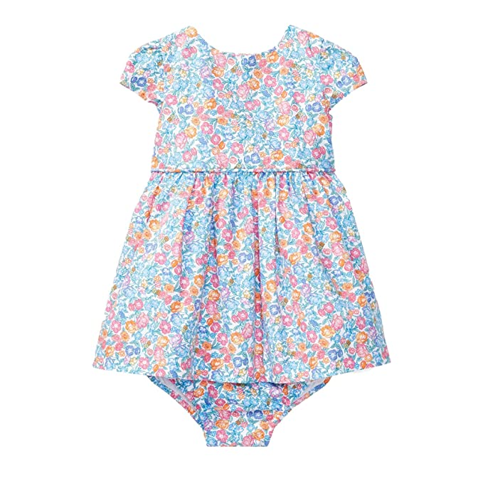 72a837b47 Amazon.com: Ralph Lauren Baby Girl Floral Cotton Dress & Bloomer: Baby