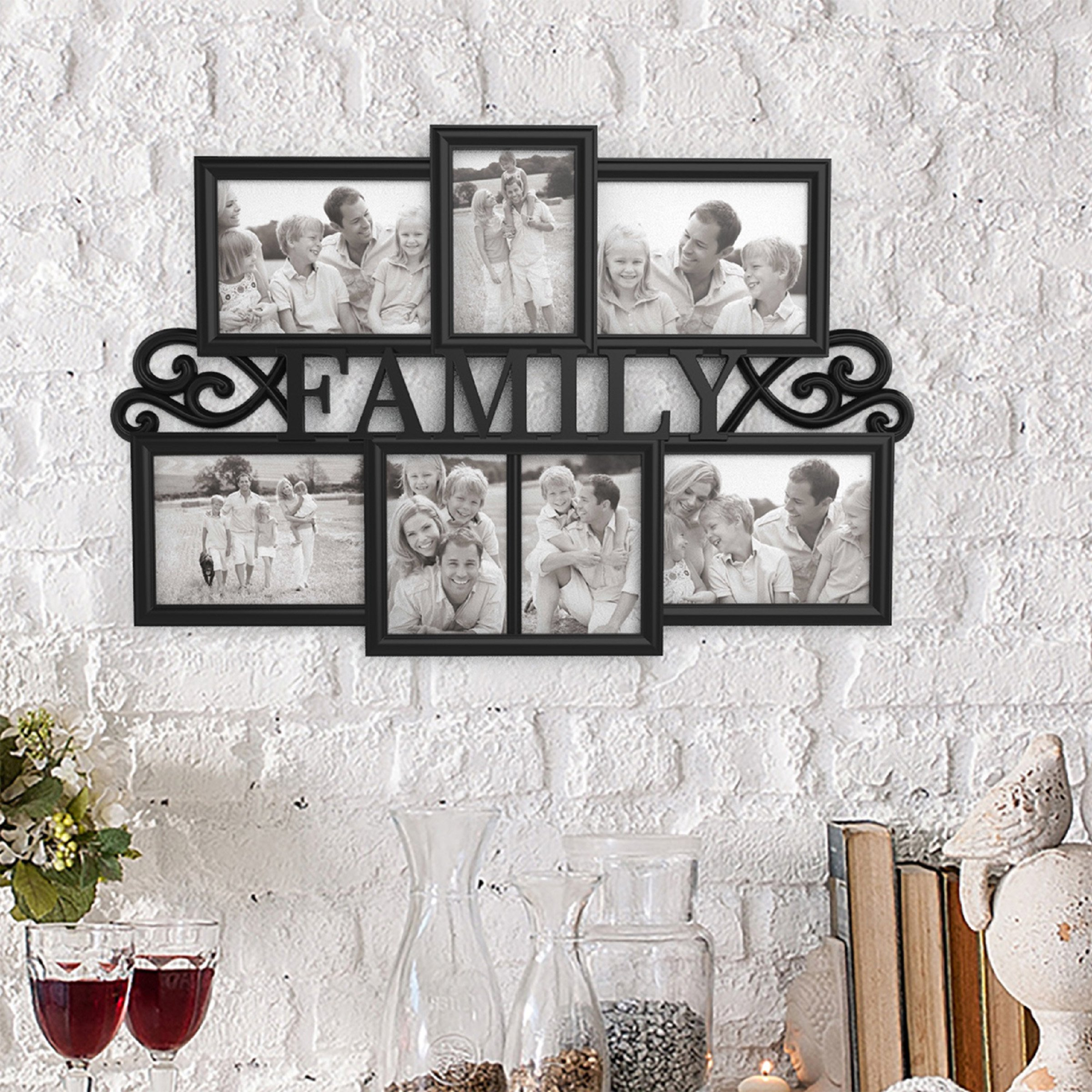 Lavish Home 80-COLL-3 Family Collage Picture Frame, Black by Lavish Home