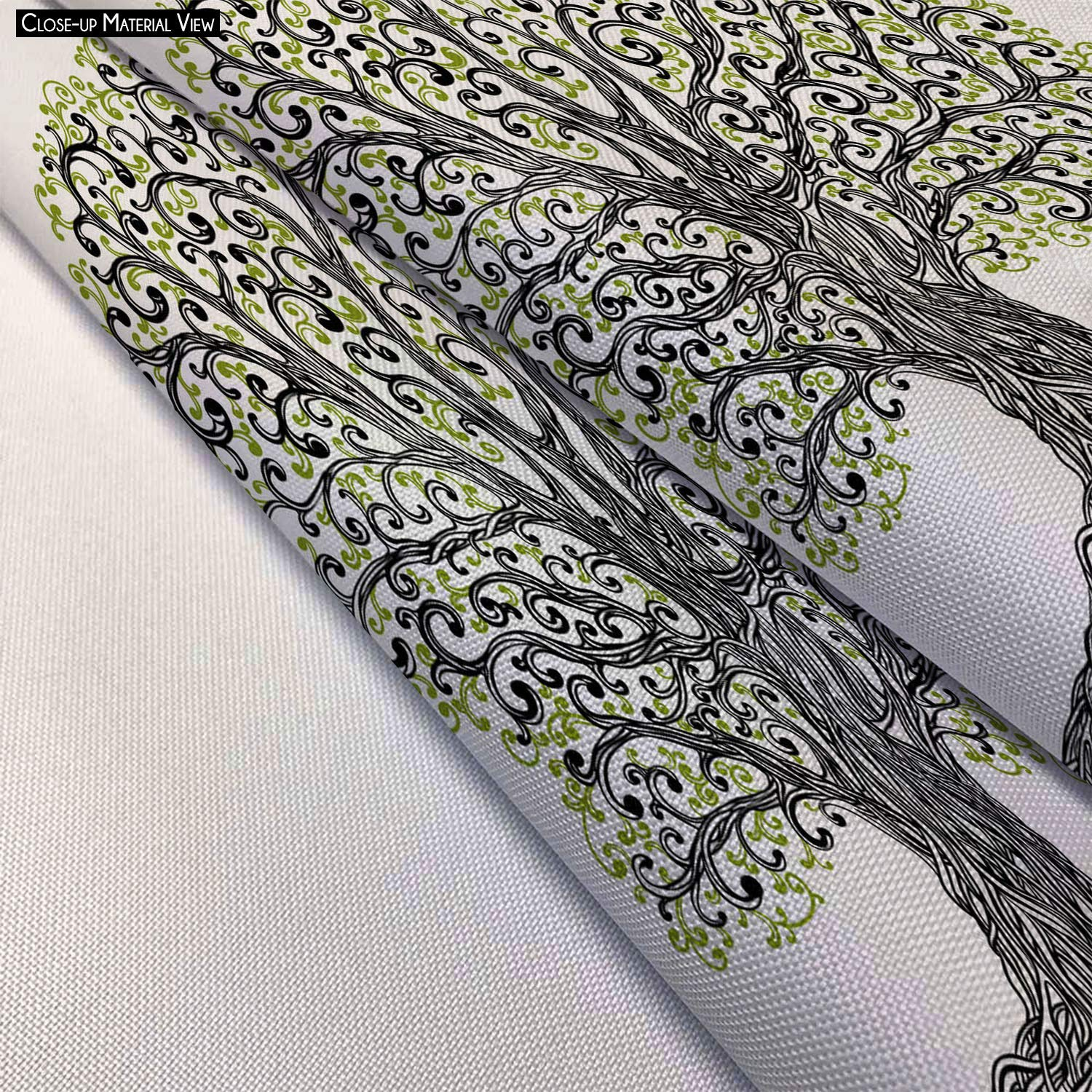 Möbel & Wohnaccessoires ArtzFolio Spring Graphic Tree with Twisted Roots Satin Painting Tapestry Scroll Art Hanging 20.4 X 18Inch