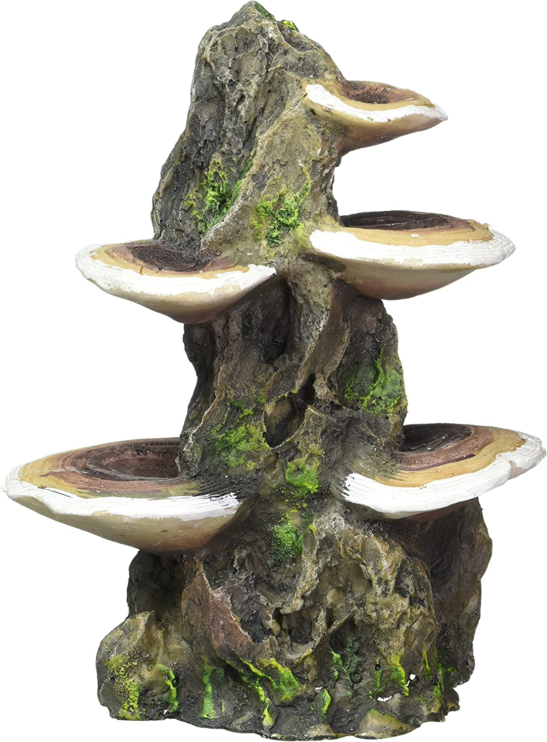 "Pen Plax RR1007 Mushrooms on Rock Aquarium Ornament, Medium/5.5"" x 4"" x 7.5"""
