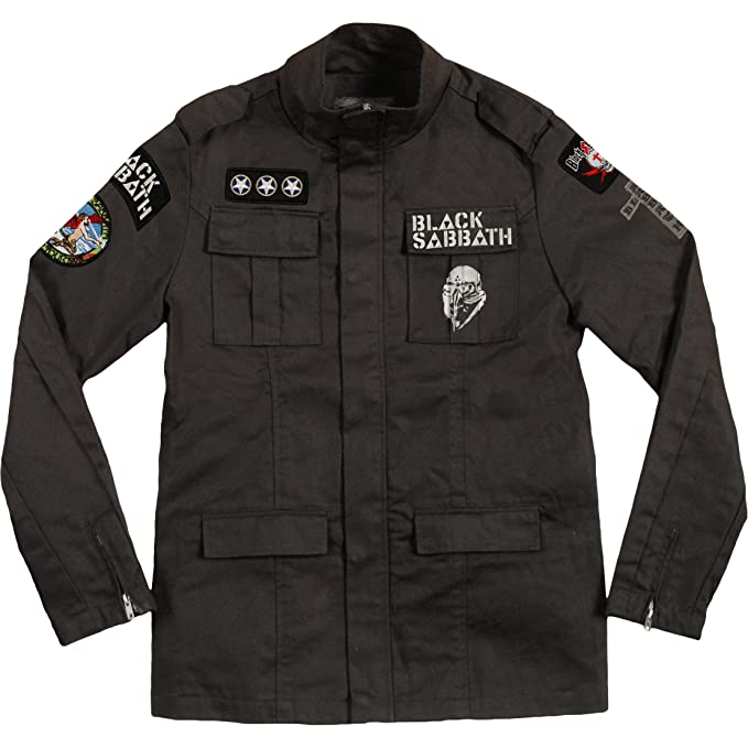 Amazon.com: Black Sabbath Never Say Die Military Jacket ...