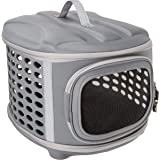 Pet Magasin Hard Cover Collapsible Cat Carrier - Pet Travel Kennel with Top-Load & Foldable Feature for Cats, Small Dogs Pupp