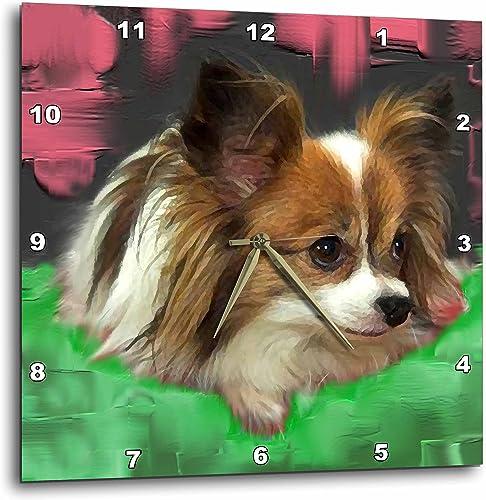 3dRose LLC Papillion Wall Clock, 10 by 10-Inch