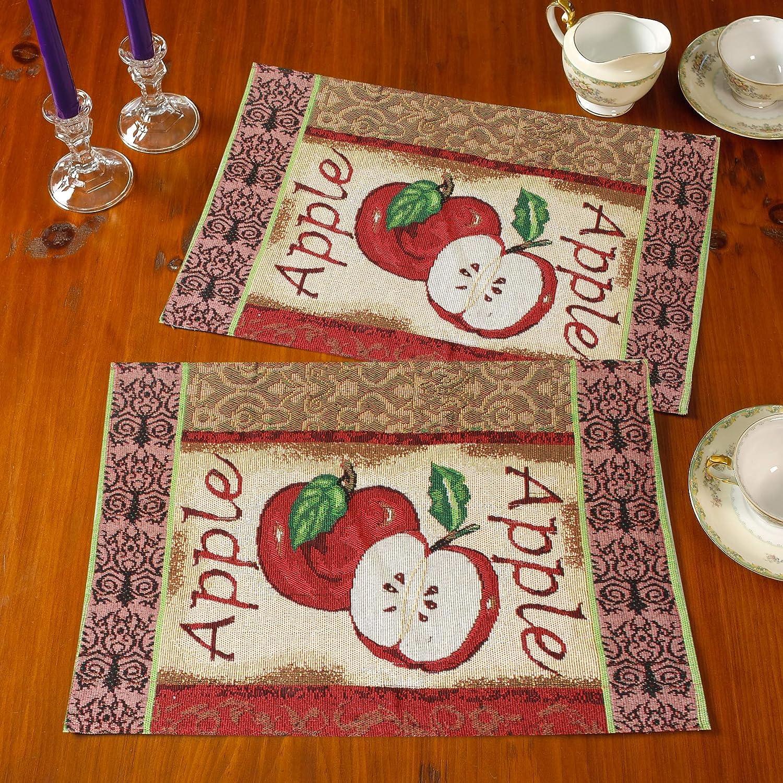 Gilbin Tapestry - Manteles individuales para cena, decoración de eventos, juego de 4 manteles individuales, lavable a máquina: Amazon.es: Hogar