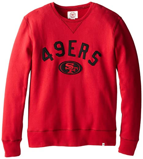 NFL San Francisco 49ers Men s  47 Brand Cross-Check Crew Neck Pullover 66099c1d4