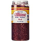 16 oz. Glitter w/ Shaker Top - Red
