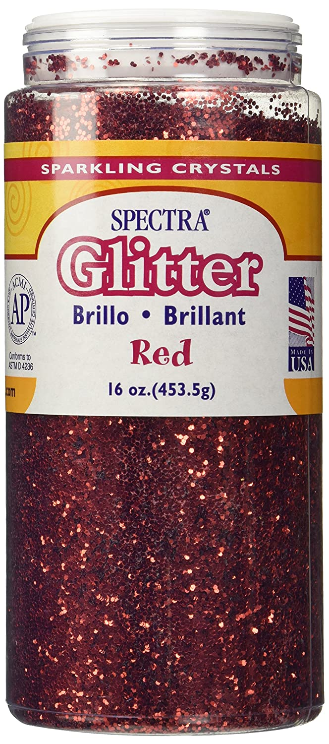 Pacon 16 oz. Glitter with Shaker Top - Red Pacon 91740