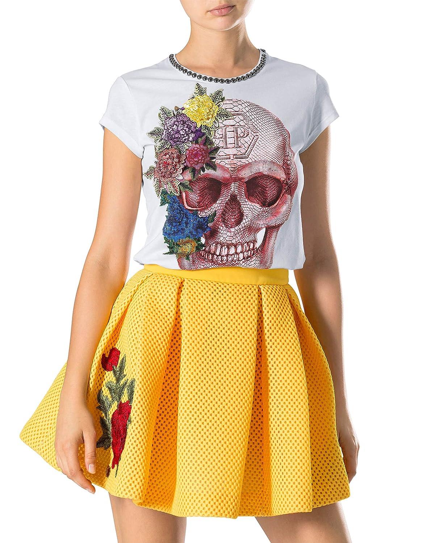 0680352143 Philipp Plein t-shirt donna Let Me Dance in cotone bianco (M ...