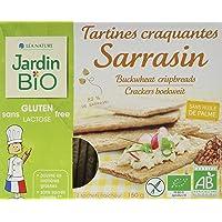 Jardin Bio Tartines Craquantes Sarrasin 80% de Sarrasin sans Gluten 150 g - Lot de 4