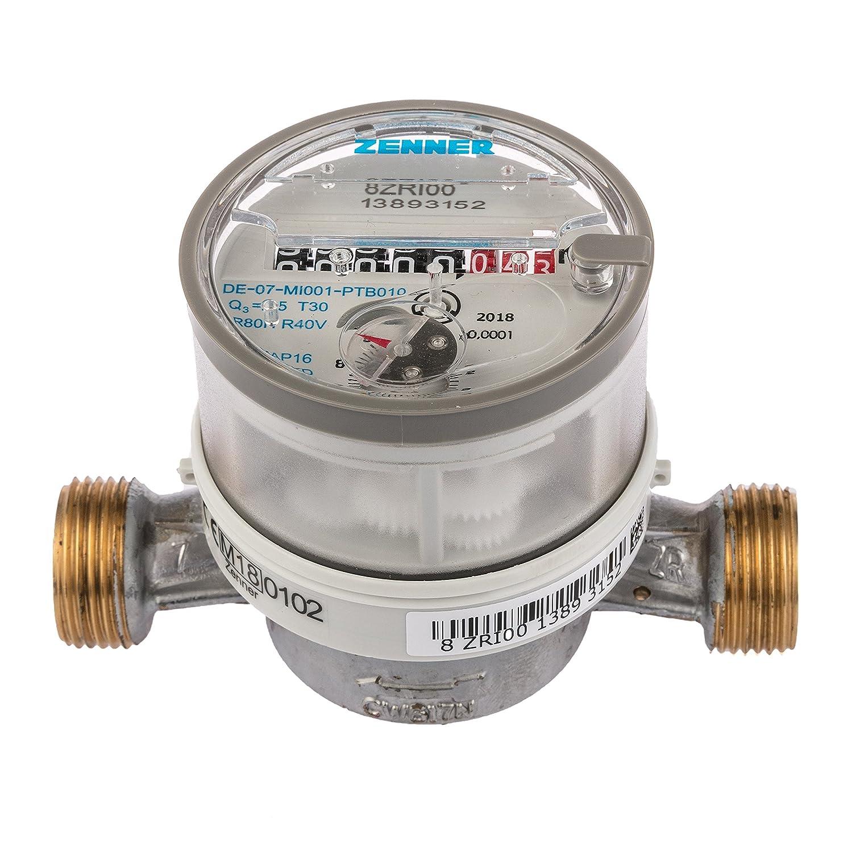 146630 Contador de agua Zenner ETKD para agua fr/ía longitud total 110 mm