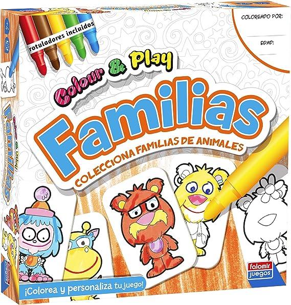 Falomir Color & Play Familias, Juego de Mesa, Manualidades, Multicolor (1): Amazon.es: Juguetes y juegos