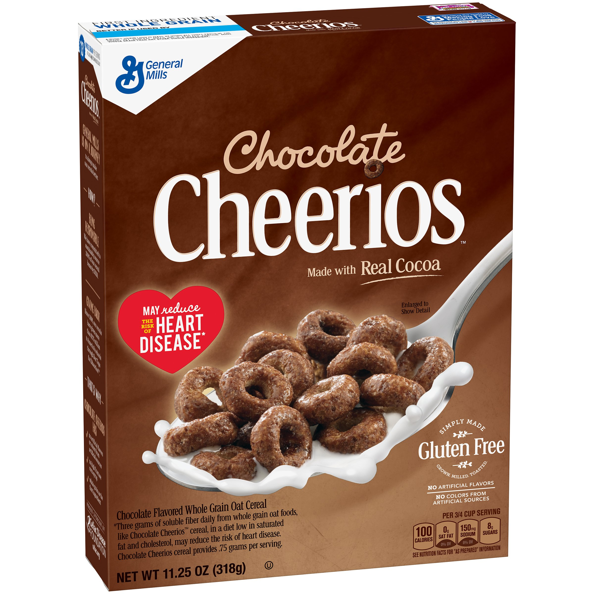 Chocolate Cheerios Cereal, Gluten Free, 11.25 oz (Pack of 12) by General Mills Cereal