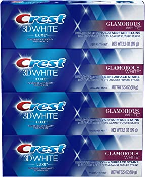 4-Pack Crest 3D White Luxe Toothpaste, 3.5 oz