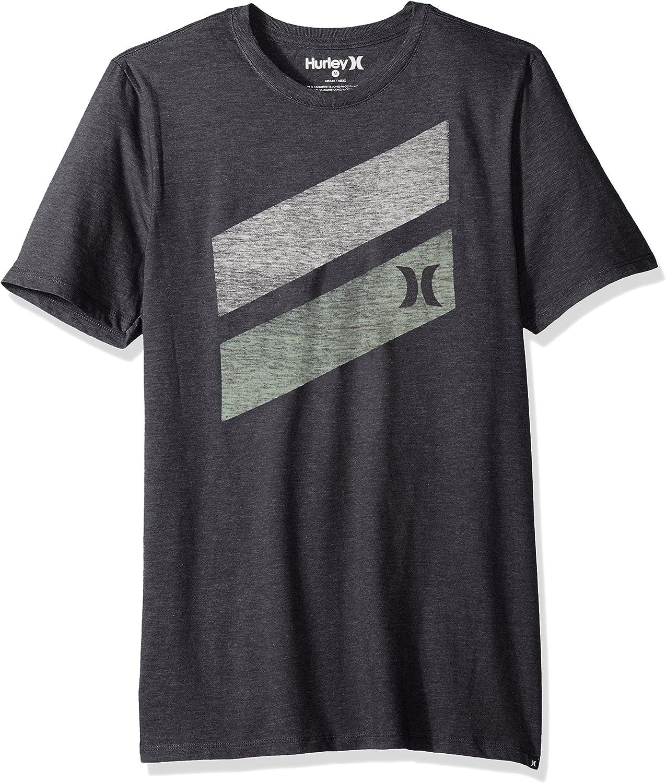Hurley Men's Premium Icon Slash Graphic Short Sleeve Tee Shirt