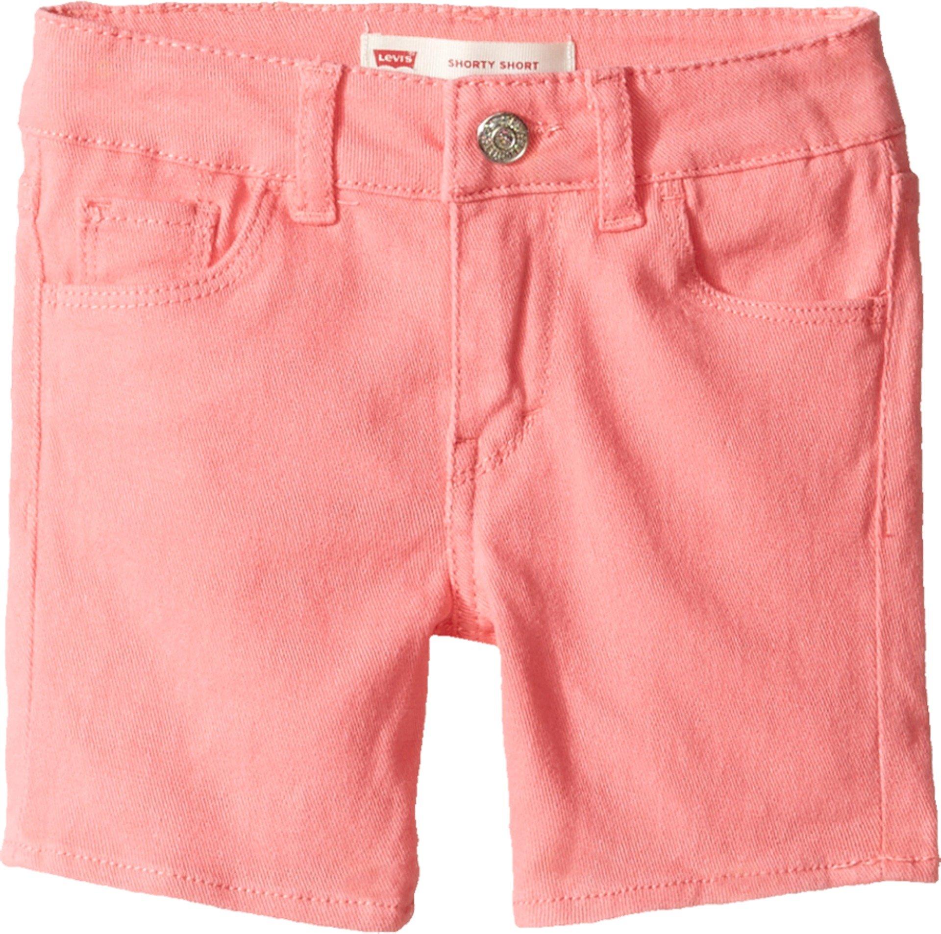 Levi's Kids Baby Girl's Summer Love Midi Short (Toddler) Strawberry Pink Shorts