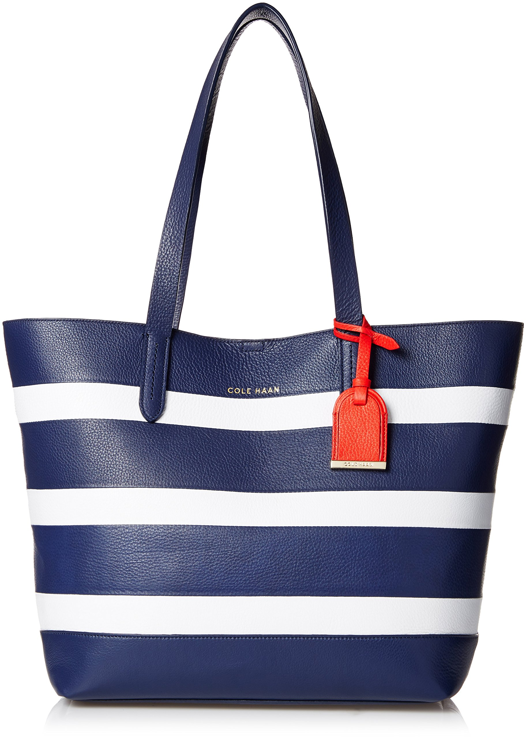 Cole Haan Palermo Small Travel Tote, Blazer Blue/Optic White Stripe, One Size
