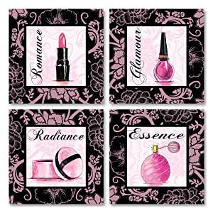 Gango Home Décor Fashion Pink Romance Makeup Art Print Poster by Gregory Gorham, 12x12