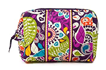 b34344b4fedb Amazon.com   Vera Bradley Large Cosmetic in Plum Crazy   Cosmetic Bags    Beauty