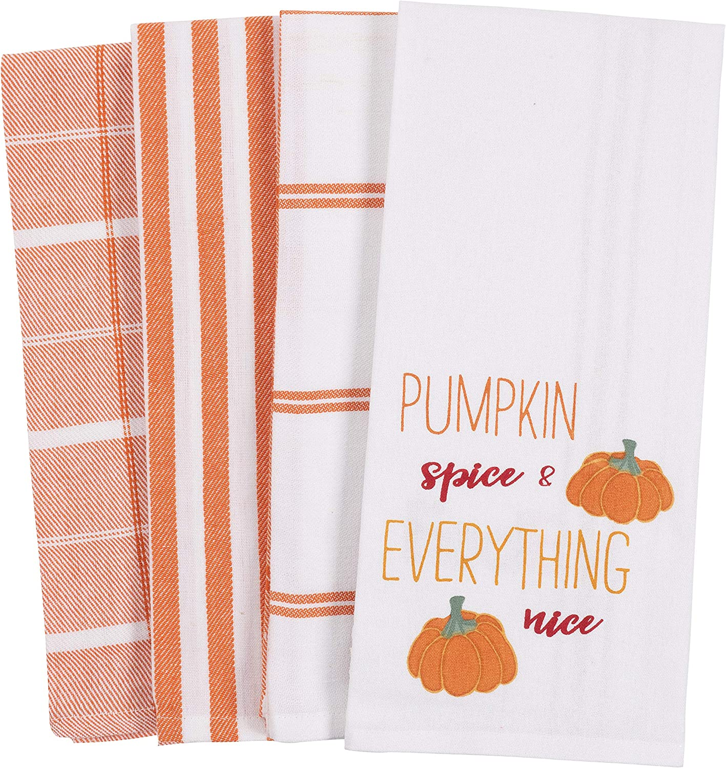 KAF Home Set of 4 Mixed Holiday Dish Towels 18 x 28 Inches 100/% Cotton Peace and Joy