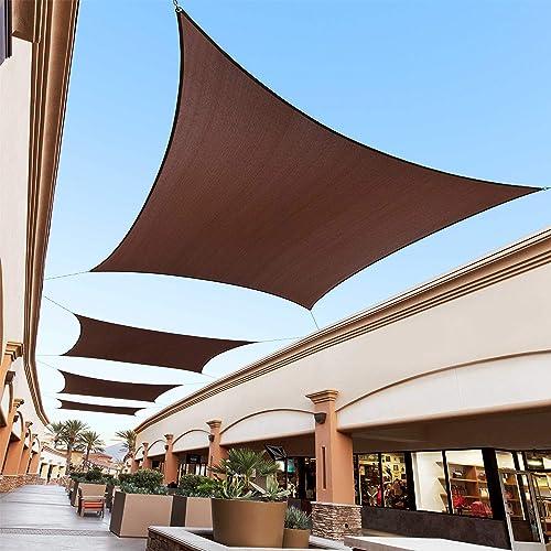Royal Shade 13' x 24' Brown Custom Size Order to Make Sun Shade Sail RTAPR1620 Canopy Mesh UV Block Rectangle
