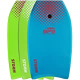 STORM Bodyboard by BPS - includes BPS PREMIUM Coiled Leash and Swim Fin Tethers (Single Board)