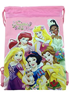 Disney Princesses Drawstring Backpack Light Pink