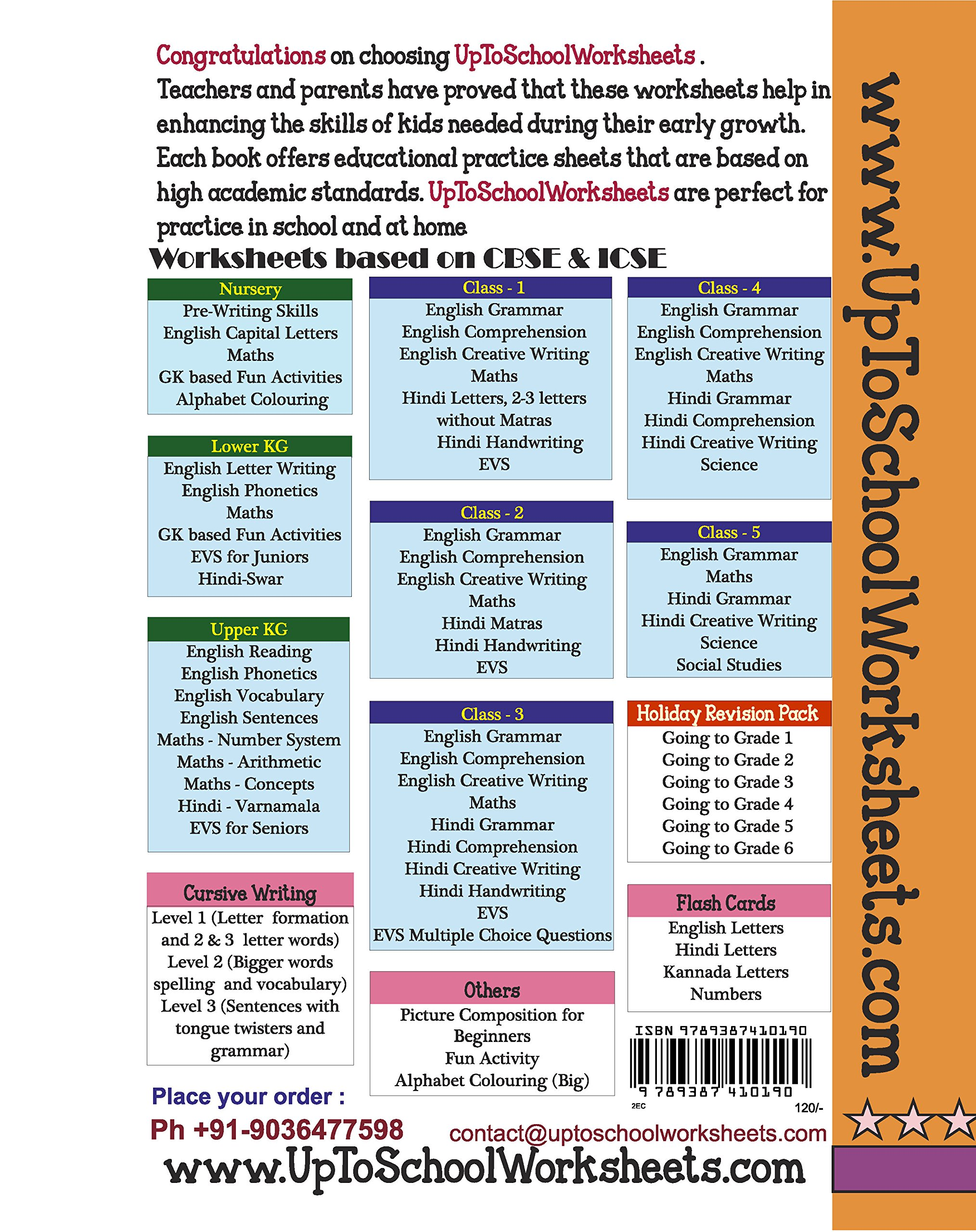 Amazon.in: Buy Grade 2 English Comprehension Worksheets : Unseen ...