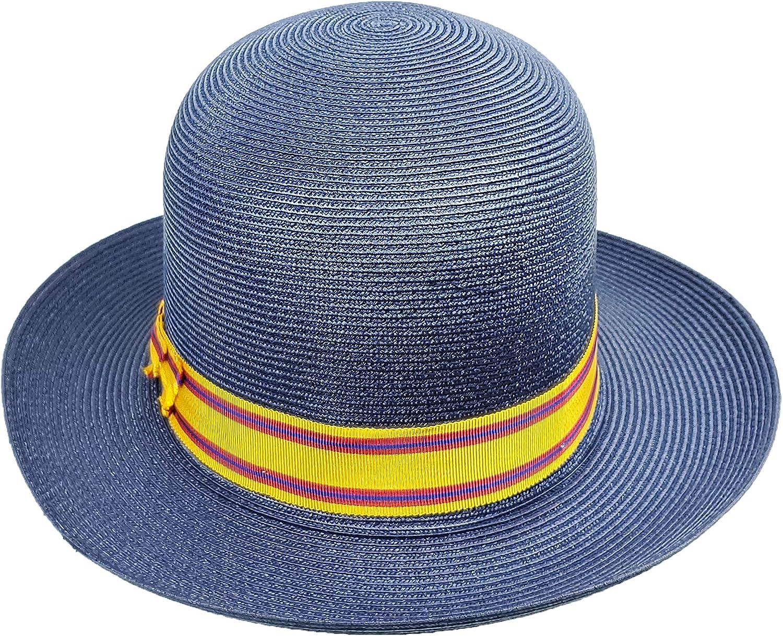 Stetson Asolare Soft Florentine Milan Straw Hat Fedora Size Medium Blue