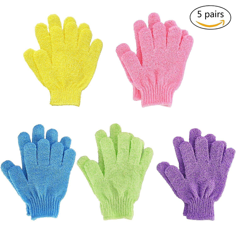 Bath Gloves,Shower Gloves Exfoliating Body Scrub Mitt Double Side for Men Women Kids 10pieces QH-Shop