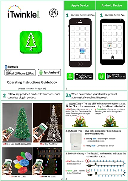Amazon Com Ge G 35 Itwinkle Smartphone Controlled 36 String Led Christmas Lights By General Electric Home Improvement