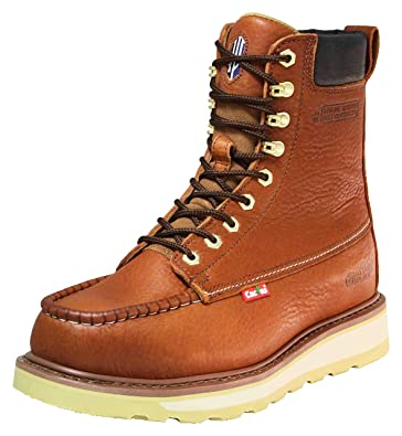 f25c8911002f Cactus Work Boots 8727M Light Brown Size 5