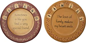 "CWI Gifts 9.5"" 2Pc Friends & Family Plate Set, Multi"