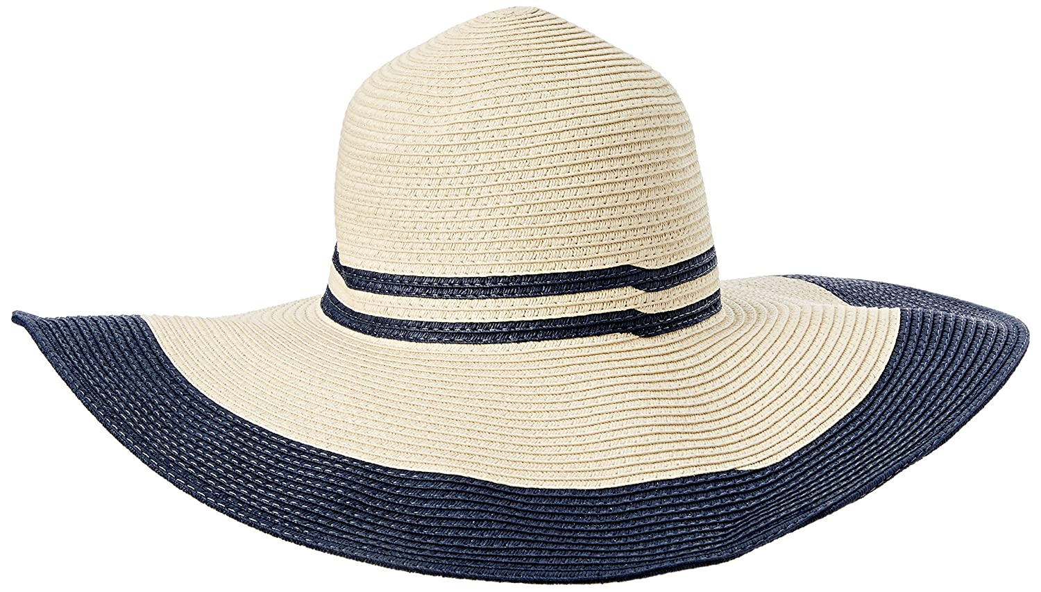 18ddbf04 Joules Women's Mandy Wide Brimmed Sun Hat, French Navy One Size at Amazon  Women's Clothing store:
