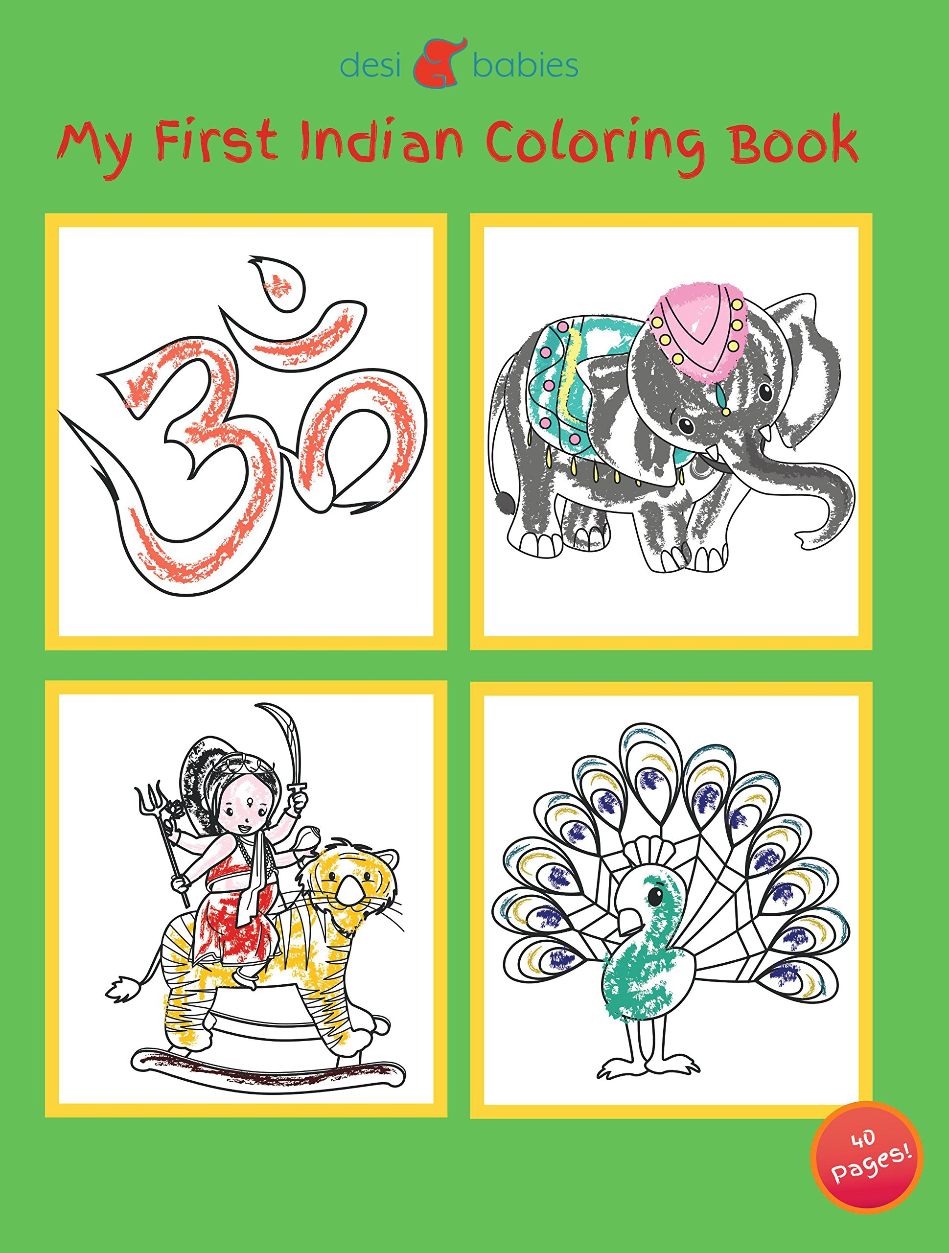 My First Indian Coloring Book - (Desi Babies) Cultural ...