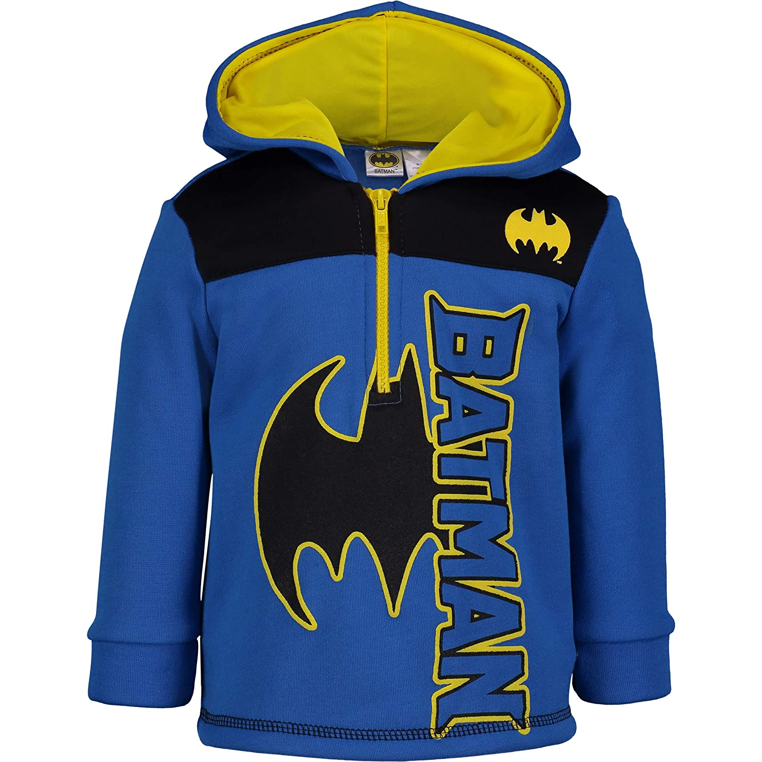 Warner Bros. Justice League Batman Half-Zip Fleece Pullover Hoodie