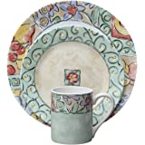 Amazon.com | 222 Fifth Lutece Square 16-Piece Dinnerware Sets ...