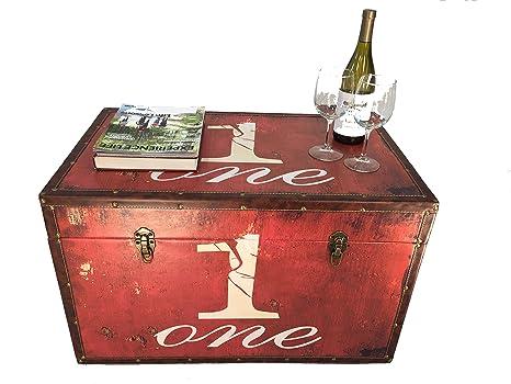 Amazon.com: Paramount madera baúl de almacenaje de madera ...