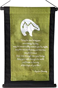 Wisdom Arts #6142 - Inspirational Quote Banner/Scroll - Apache Blessing - Olive Green