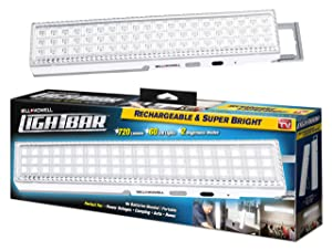 """LIGHT BAR by Bell + Howell 60 LED 16.5"""" Rechargeable, Portable Lighting As Seen On TV (White)"""