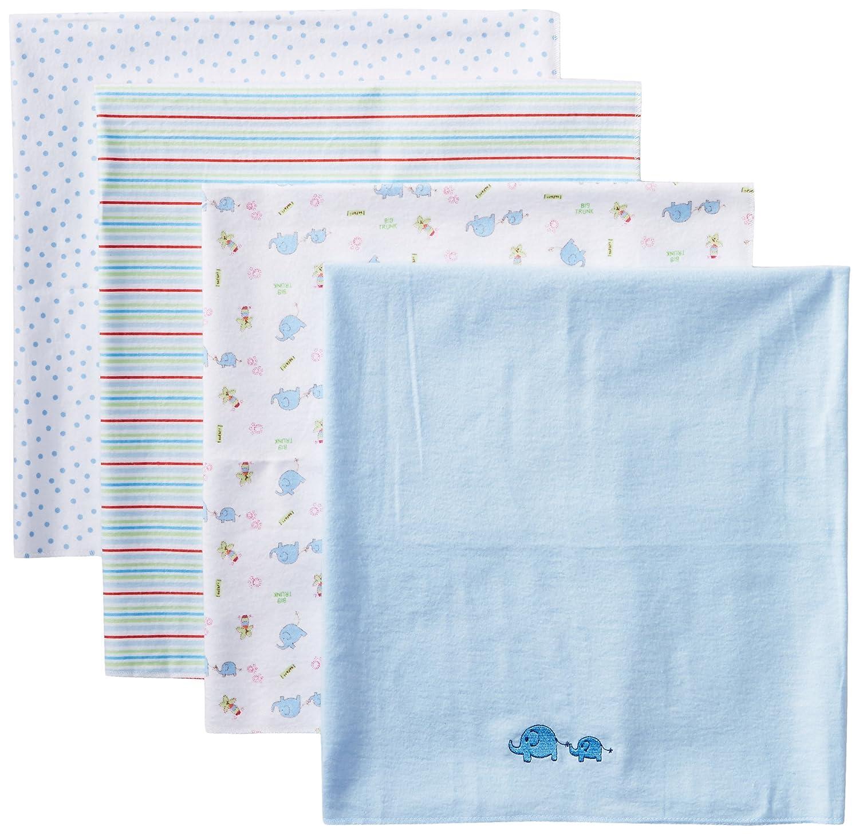 Amazon.com : Baby-Boy recién nacido 4 Paquete franela manta de ...