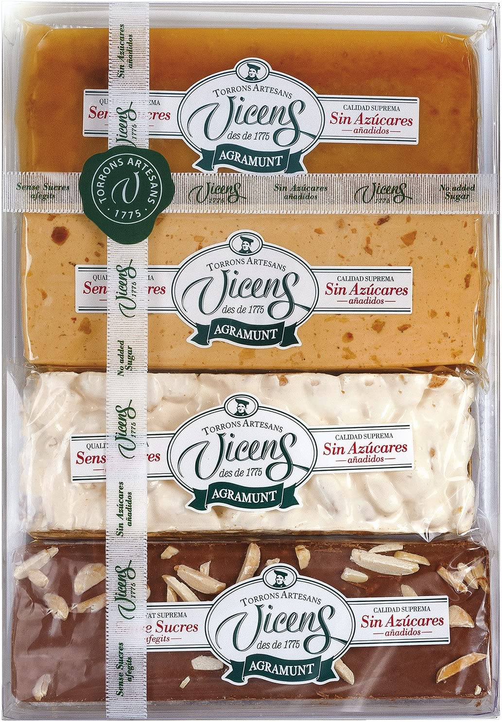 Vicens - Estuche Turrones sin Azúcar, 80 g x 4: Amazon.es ...